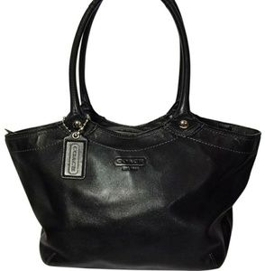 Coach Black Leather Legacy Bleaker Tote